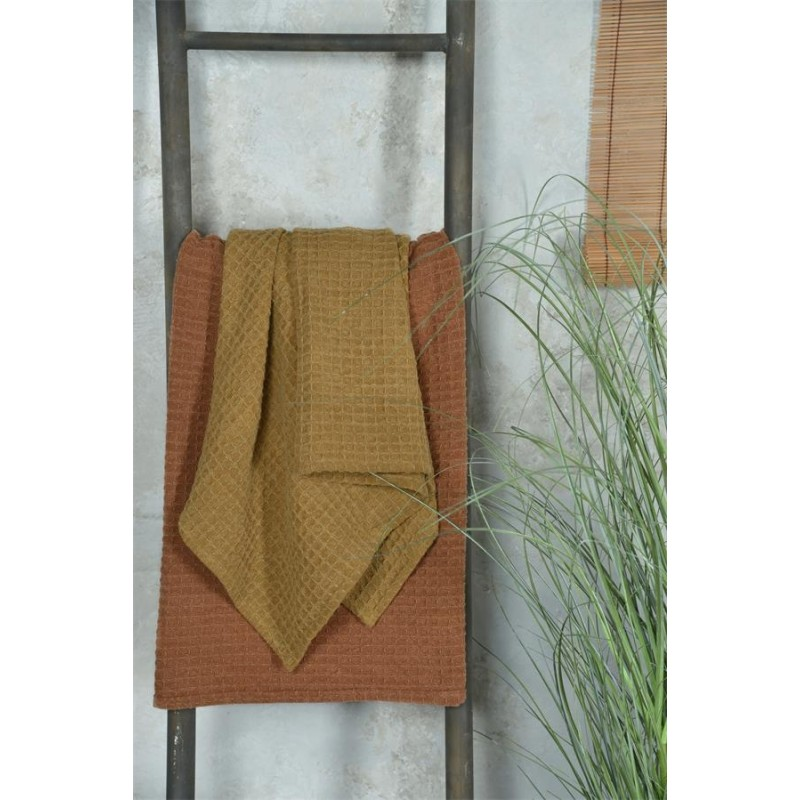 Håndklæde i sennepsgul - 50 x 100 cm