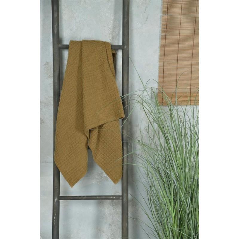 Håndklæde i sennepsgul - 70 x 140 cm