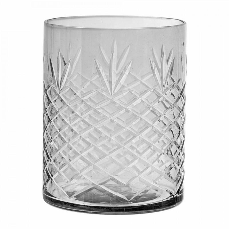 Arshan fyrfadsstage i grå glas