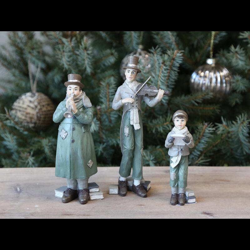 Vintage juleorkester sæt af 3 stk.