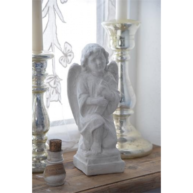 Gipsfigur engel - 25 cm