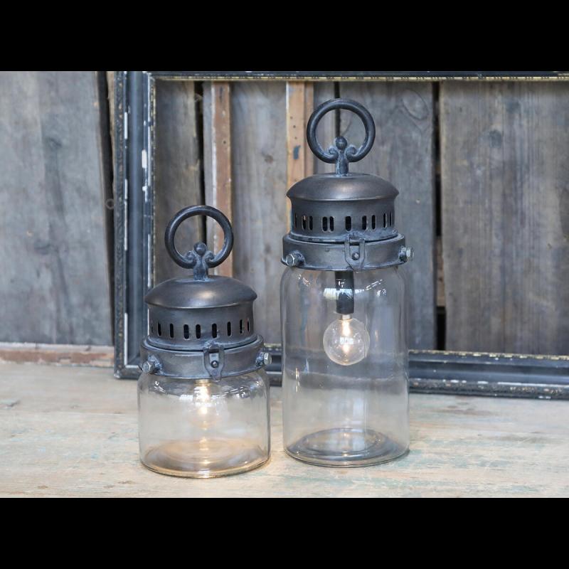 Fransk stald lanterne incl. pære og timer