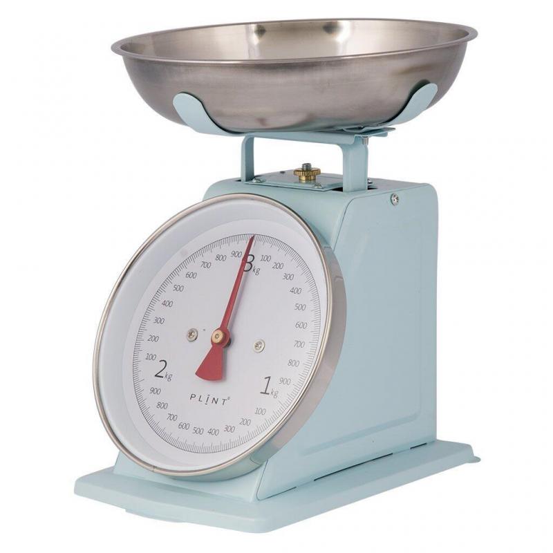 Retro køkkenvægt i blå