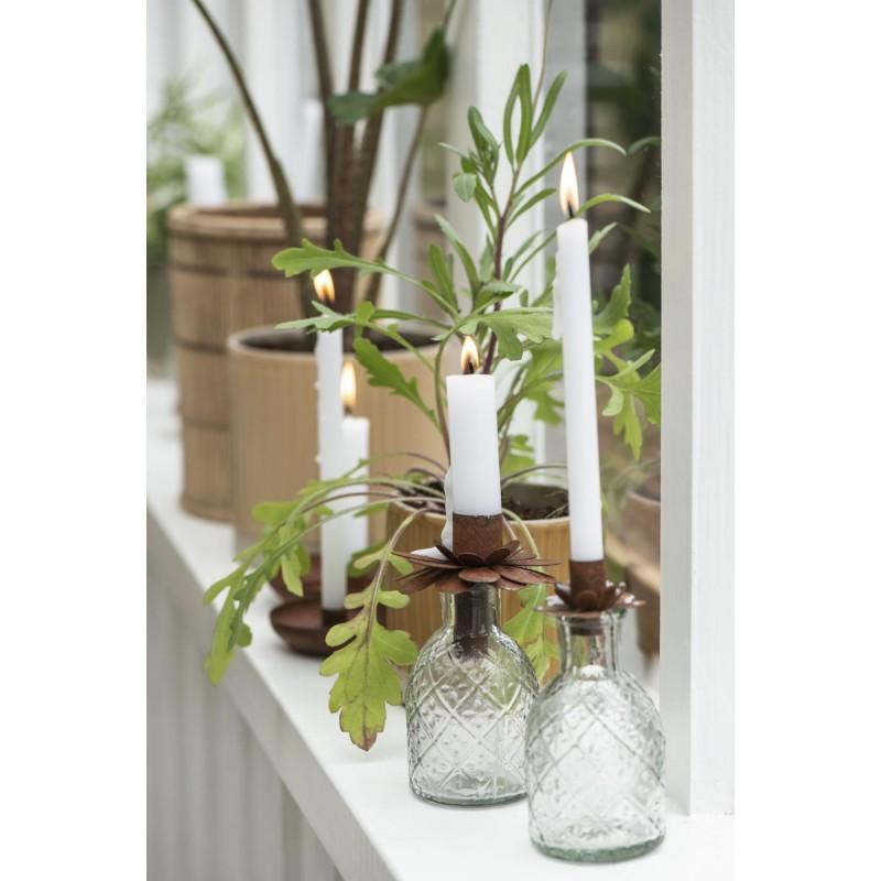 Lysholder - Blomst rust