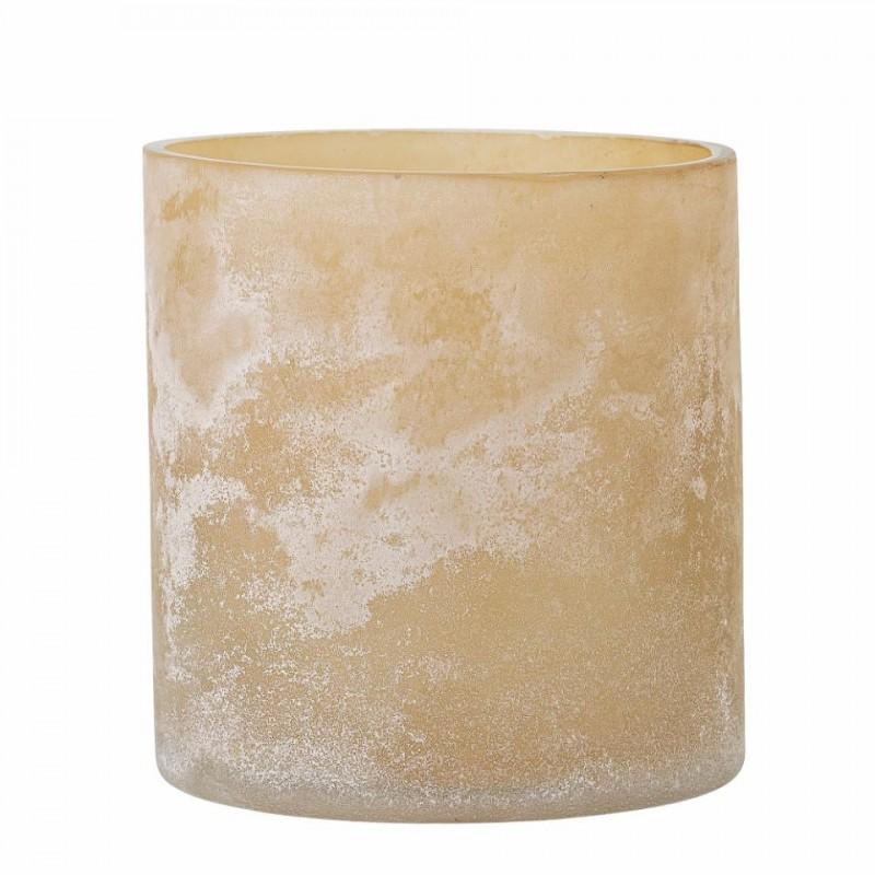 Macha lysestage i natur glas