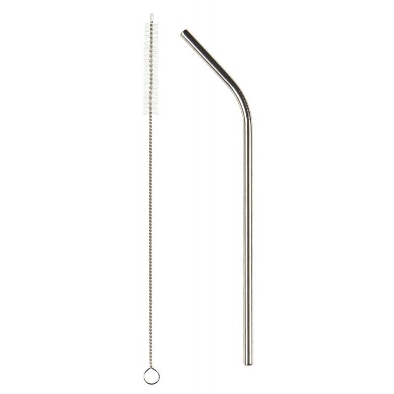 Metal sugerør med knæk - Sæt af 6