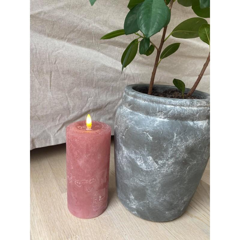 Rosa LED bloklys - Stor