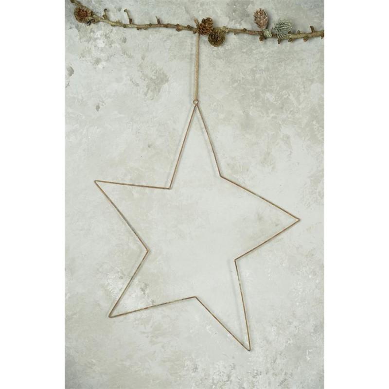 Stjerne af jern med rustikt look - Stor