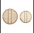 Rund serveringsbakke i bambus - Stor