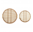 Rund serveringsbakke i bambus - Lille
