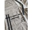 Beige juleforklæde med tekst
