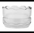 Glas fyrfadsstage med bølget kant