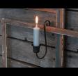 Gammel fransk lysholder til bedelys i sort