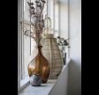 Glas vase i brunt glas
