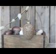 Glas æg med glimmer
