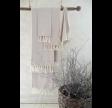 Hammam håndklæde i creme og lyserød - 50 x 100 cm