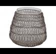 Lysestage med kobbernet og glasindsats - Stor