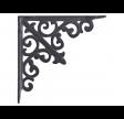 Fransk lilje hyldeknægt i antik grå