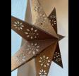 Papirstjerne i Bronze glimmer