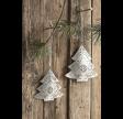 Zink juletræ m/hulmønster