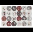 Ark med 24 klistermærker til hjemmelavet julekalender