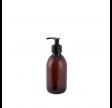 Brun apotekerflaske med pumpe - 300 ml.