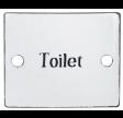 Toiletskilt i emalje
