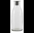 Flaske til bedelys med løs zink lysindsats