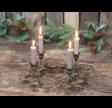 Adventskrans i antique messing med detaljer