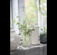 Vase i flot harlekinmønstret glas