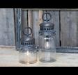 Fransk stald lanterne inkl. pære og timer