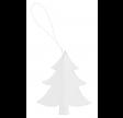 Hvid papir juletræ