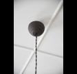 Loftlampe i mørkt metal
