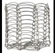 Lysestage i metal tråd