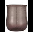 Glas fyrfadsstage i mørke rosa farve - Unika
