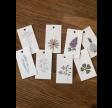 Manillamærker med blomstermotiver