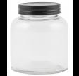 Opbevaringsglas med sort låg 350 ml.