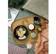Pixie keramikkrukke med låg og træske