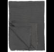 Mørkegrå plaid - Dobbeltvævet