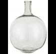 Rund ballonvase i klar glas