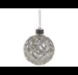Sølv kugle med LED lys