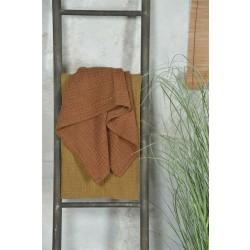 Håndklæde i rustrød - 50 X 100 cm