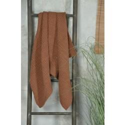 Håndklæde i rustrød - 70 x 140 cm