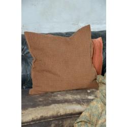 Pudebetræk i rustrød - 50 x 50 cm