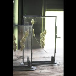 Fotoramme med metalfod i zink - Lille