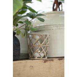 Fyrfadsstage med bambusflet