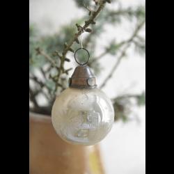 Glas julekugle i antik finish