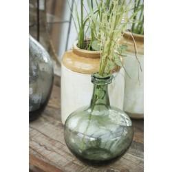 Glas vase i grønt glas