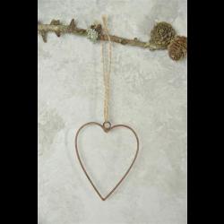Hjerte i gammel rustik look - 9 cm