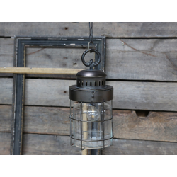 Fransk stald lanterne med kæde inkl. pære